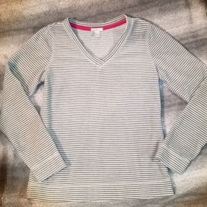 Old Navy striped fleece pullover